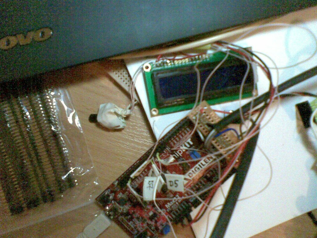 Prototype development: ChipKit Core mUnit with text LCD module